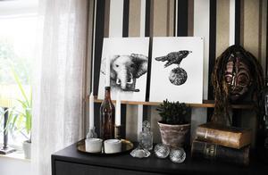 Mustiga färger och genomtänkta detaljer genomsyrar stilen i huset.