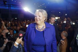 Erna Solberg  verkar få sitta kvar som Norges statsminister i ytterligare fyra år.