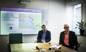 Östersundshems vd, Daniel Kindberg (till vänster),  och bolagets styrelseordförande, socialdemokraten Tord Andnor. Foto: Linda Hedenljung
