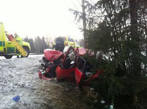 En singelolycka har inträffat nu på morgonen i Vattlång.