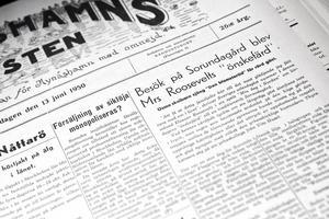 I NP den 13 juni 1950 berättas det om Eleanor Roosevelts besök i Sorundabygden.