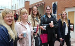 Blivande förskollärare; Frida Klasson, Linda Hagberg, Isabelle Vestlund, Johanna Gustafsson och Mari Blank.
