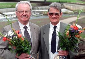 Lennart Ödeen, tidigare kulturskribent på GD, till vänster i bild, avled i somras. En del av hans historiska krönikor hann aldrig bli publicerade. I samförstånd med hans familj publicerar GD nu en del av dem.