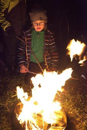 Olle Hoväng Bransmo ville att det skulle brinna ordentligt, och han fick definitivt som han ville.