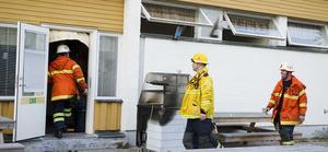 Räddningstjänsten kunde snabbt avvärja risken för att branden skulle spridas.
