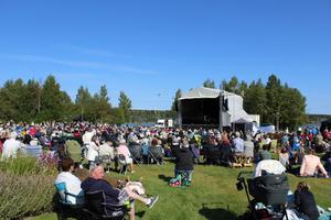 Konserten lockade många besökare.