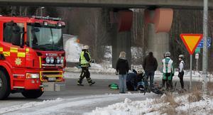 Olyckan inträffade vid avfarten från riksväg 50 i Ornäs.