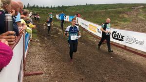 Maria Bylund, Fagersta OK, jagar en pallplats i Challenge D10.