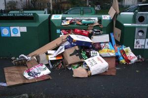 Vänta med besöket på återvinningsstationen till tisdag eller onsdag efter julafton.Foto: scanpix