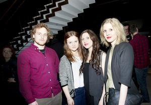 Robert Johansson, Lovisa Pettersson, Lina Dahlbom och Erika Backman hoppades att The Deer Tracks skulle få pris.