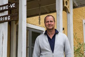 Per Stenmalm är med i golfklubbens styrelse och är en av dem som ideellt jobbat med att renovera upp lokalerna i klubbhuset.