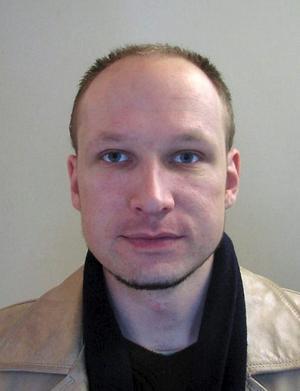Polisfoto av Anders Behring Breivik.