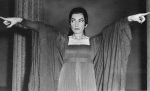"""Maria Callas, här i """"Medea"""", sjöng med Borlängesonen Jussi Björling 1955. På lördag hålls en konsert till hennes ära i Missionskyrkan."""