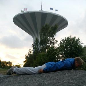 SJälvklart måste svampen vara med på planking i Örebro.