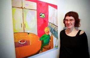 På Bolin och Bastard visas färgstarkt måleri av Elin Forssell från Uppsala