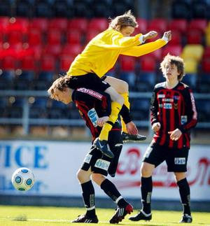 Tom Perman.ÖFK segrade i den historiska premiären i Juniorallsvenskan. Foto: Denny Calvo