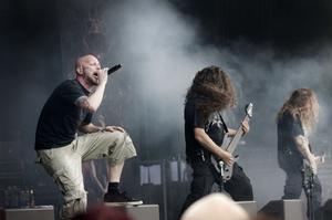 Meshuggahs aggressiva musik är mer rytmisk än melodisk.