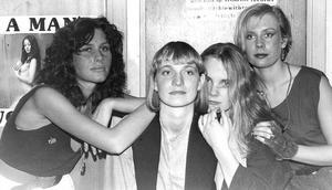 80-TALET. Scandal Beauties när det begav sig. Lena Larsson spelade bas, Biggan Larsson spelade gitarr, Anna Wiklund sjöng och Misan Tejre satt bakom trummorna.