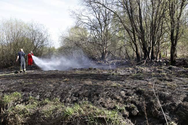 Brand i pelletsfabrik utanfor gavle
