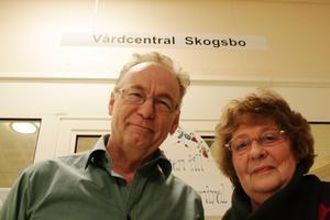 Nöjda. Bengt Holmertz och Inger M Eriksson i Horndals och Bys utvecklingsgrupper.