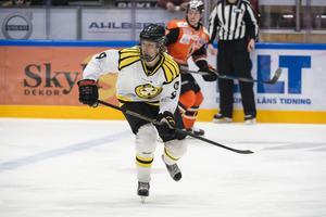Jesper Boqvist spelade sin första match i SHL och Brynäs A-lag. Trots 3–2-förlusten njöt han av att få spela.