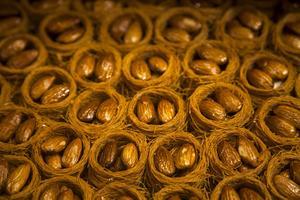 Bildtext 11: Utsökta turkiska bakverk sitter fint till eftermiddagskaffet.   Foto: Johan Öberg