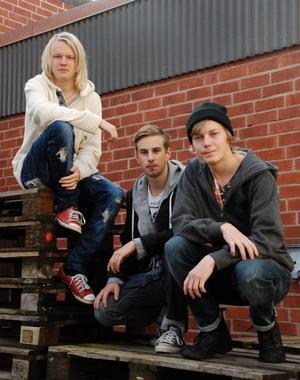 Christer Johansson, Elias Jegver och Isak Munters är grundarna av det nya UF-företaget Management på Vansbro utbildningscenter.