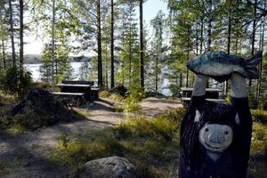 Rastplatsen vid Skarhålssjön, ligger precis på gränsen mellan Hälsingland och Medelpad, men det är hälsingesidan som gåller, medan en betydande del av Armsjön ligger i Medelpad.