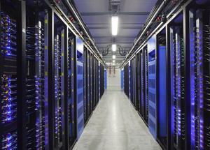 Facebooks nybyggda serverhall i Luleå.