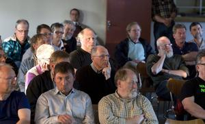 Ett sjuttiotal personer kom till samrådet i Friggesund om brytning av vanadin i Bricka, Bjuråker.
