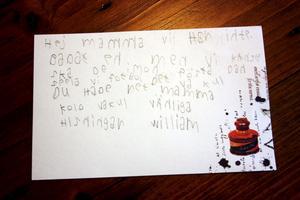 - Du hade rätt mamma, kollo är kul, skriver William i brevet hem.