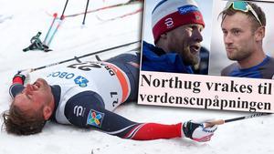 Petter Northug petas, enligt norska VG. Beskedet kommer offentligt vid 12-tiden. Bild: TT/Skärmdump (Montage).