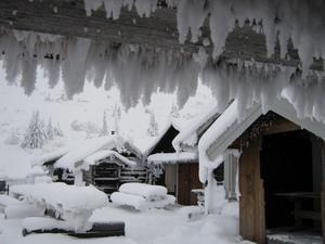Kan det bli mer vintrigt än så här, jag tror att tomten bor där!