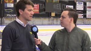 Thomas Paananen med Mittmedias reporter Oliver Åbonde.