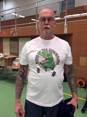 Stefan Åberg vann två av tre delmoment och tog hem titeln Sveriges starkaste pensionär.
