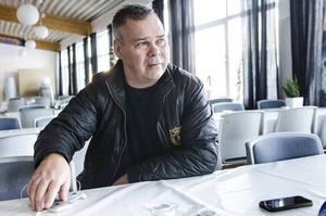 Leif Strömberg under en intervju med ST-sporten.