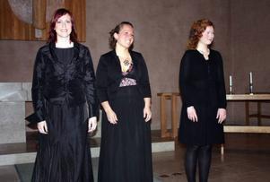 SopranenAnna Johansson, mezzon Sara P Eriksson och pianisten Gunweig Holthe bjöd på en konstnärlig blandning av lyrik och musik.