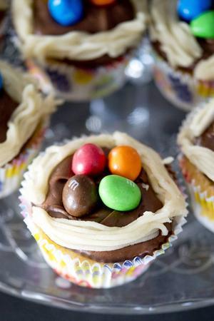 Påskcupcakes. Med frosting får muffins ytterligare en dimension.