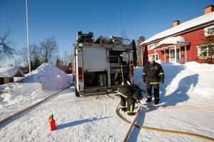 Räddningstjänsten var snabbt på plats och kunde släcka en brand i en ladugård på Langbergsvägen i Ockelbo på lördagen.