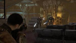 Grin hade tre 3D-grafiker med i Terminator Salvations förproduktion och fick även påverka manuset för att det skulle passa bättre för spelet.