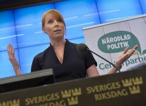 Annie Lööf (C) kliver in i politikens centrum igen efter sin föräldraledighet.