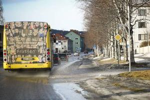 Slaskvädret har tagit ett stadigt grepp om Östersund.