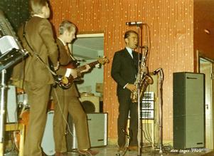 Sten Inges Orkester nyårsafton 1968.  Inskickat av Kjell-Erik Ahlgren.