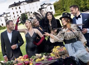 Stjärnklart 2017. David Hellenius, Ace Wilder, Petra Marklund, Loreen, Carola Häggkvist och Måns Zelmerlöw.