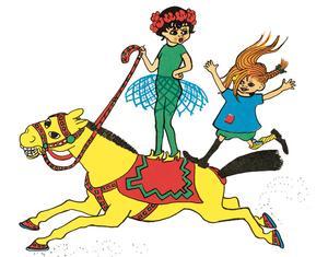 """""""Det finns en barnhumor i Ingrid Vang Nymans teckningar och en empati i hennes sätt att teckna sociala villkor, fattiga barn och romer"""", säger litteraturvetaren Ulla Rhedin, som är glad att åldersspannet på illustratörerna i boken Vår Pippi – vår Vang spänner över 50 år."""