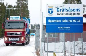 Östersund kan inte behandla vårt matavfall förrän tidigast i april. Under tiden skickas komposten till Sundsvall och bränns upp.