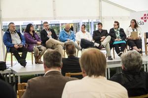 Söderhamns politiker debatterade om hbtq-frågor i Strykjärnsparken på torsdagskvällen.