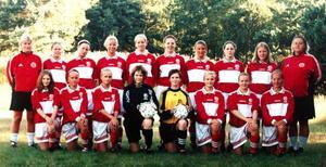 Det här är ett av de distriktslag som undersökts. Det är Jämtland/Härje-dalens lag för flickor födda 1984 som åkte till Halmstad 1999.Stående från vänster: Anneli Andersén, tränare, Elin Säterhall, Ås IF, Martina Nyh, Ås IF, Lina Lindbäck, IFK Östersund, Stina Modigh, IFK Östersund, Katrin Olofsson, Offerdals IF, Sandra Månthén, Brunflo FK, Kristina Svedberg, Offerdals IF, Pernilla Esbjörnsson, Bräcke SK och Mia Ångman, tränare.Nedre raden från vänster: Malin Staflin, Ås IF, Emma Åvall, IFK Östersund, Karin Olsson, Ope IF, Jenny Ivansson, Ås IF, Karolin Lindström, IFK Lit,  Karin Olofsdotter, IFK Östersund, Ida Hallqvist, Brunflo FK, samt Johanna Lisspers, Ope IF.Av dessa är det en spelare som fortsatt sin aktiva karriär efter Halmstadslägret och som spelar klubbfotboll i dag. Det är målvakten Jenny Ivansson. (Vi har inte kontaktat alla enskilda spelare för att kontrollera uppgifterna utan vi har gått på förbundets spelarförteckningar. Så en viss felmarginal kan det vara).