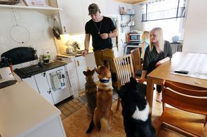 Per Sandberg och Ida Eriksson bor på landet i Leksand. De har fyra jakthundar. Tre Västsibirisk Laika och en gråhund.