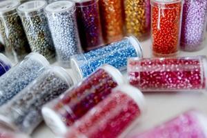 """""""Pärlorna är mina färgtuber!"""""""